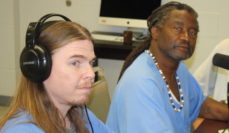 Joe Kirk and Spoon Jackson are students in KALW's radio training program at Solano State Prison