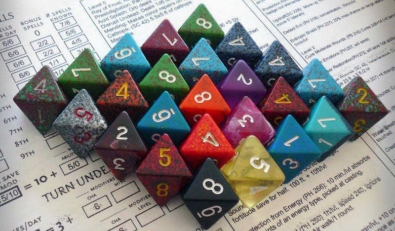 Dungeons & Dragons players use polyhedral dice during the game