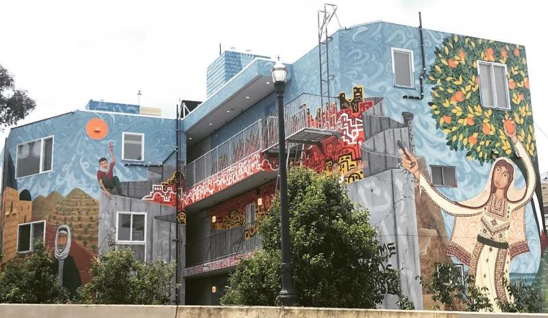 san francisco muralist connects bay area residents to palestinian