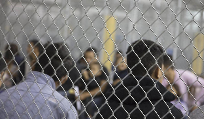 Inside a detention facility in McAllen, Texas