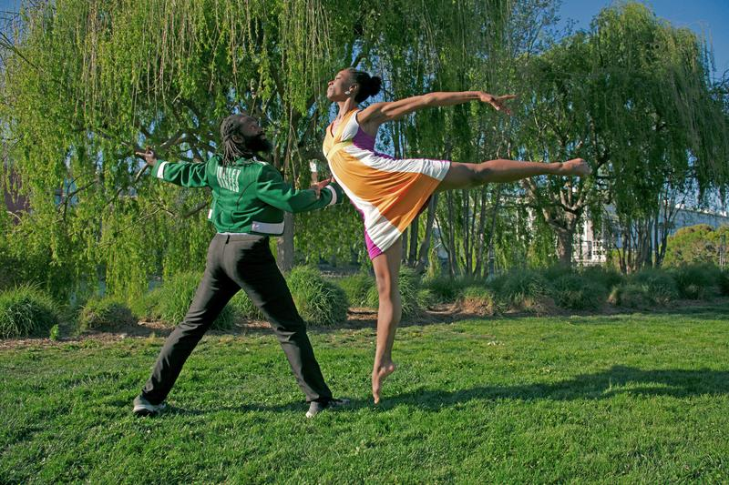 Antoine Hunter and Linda Steele for San Francisco Trolley Dances, on October 20 and 21 along the N-Judah Muni line, from Mission Creek Park to the San Francisco Museum of Modern Art...