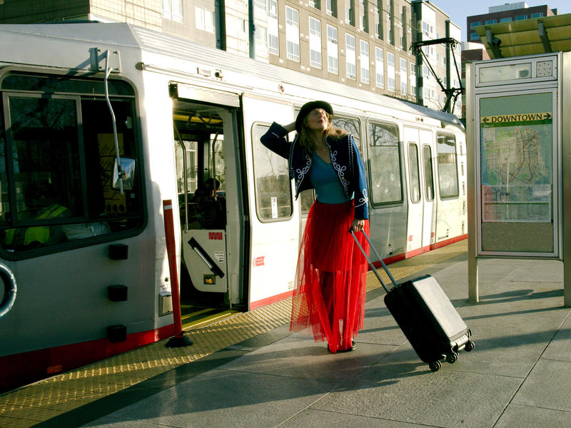 Kim Epifano for San Francisco Trolley Dances, on October 20 and 21 along the N-Judah Muni line, from Mission Creek Park to the San Francisco Museum of Modern Art...