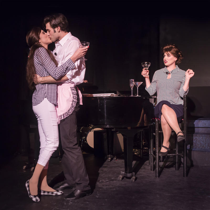 (From left to right) : Carol Ann Walker as Liza Minnelli, Justin Genna as Peter Allen and Leandra Ramm as Judy Garland in 'The Boy from Oz', directed by John Fisher; a Theatre Rhinoceros Production at The Gateway Theatre through November 17...