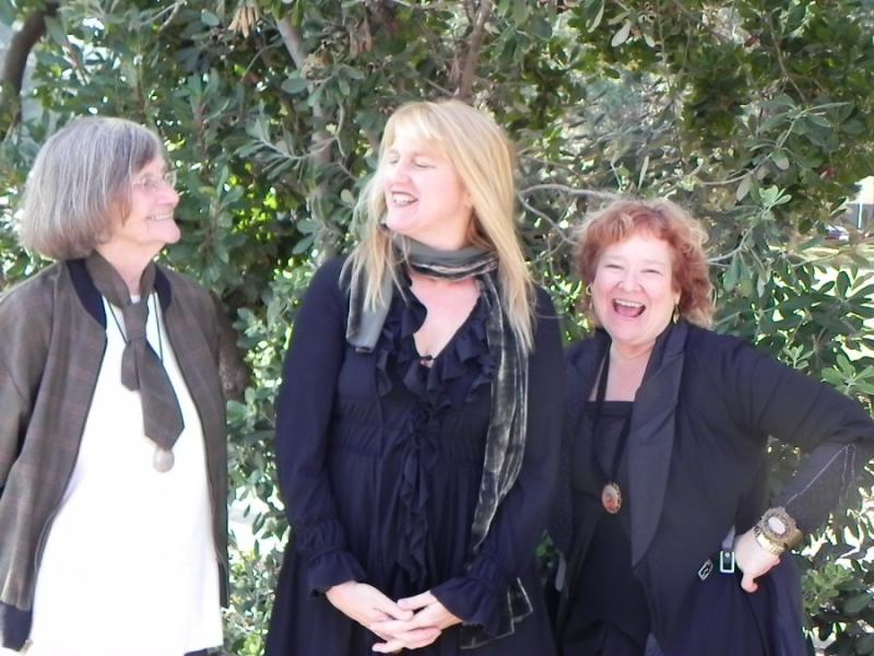 "The founders of the ""3Girls Theatre"": Lee Brady, Suze Allen, AJ Baker."
