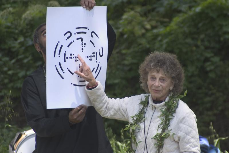Anna Halprin explaining the Planetary Dance