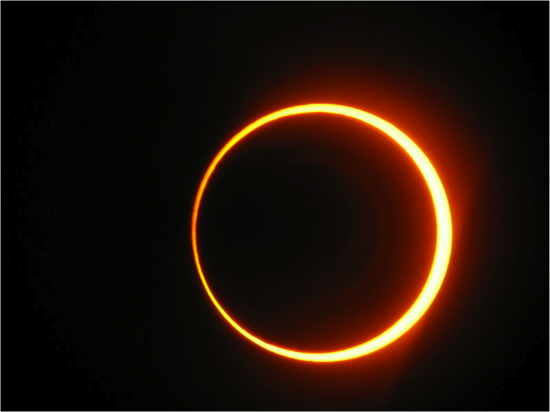 "On May 20th the moon will pass over the sun creating a ring of fire"" or an annular eclipse //  Wikimedia Commons"