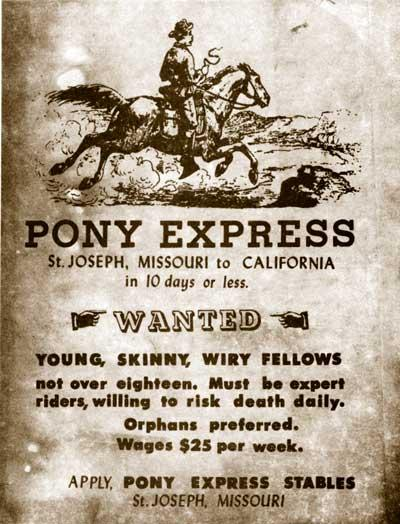 1860 - Pony Express (highlighted story below)