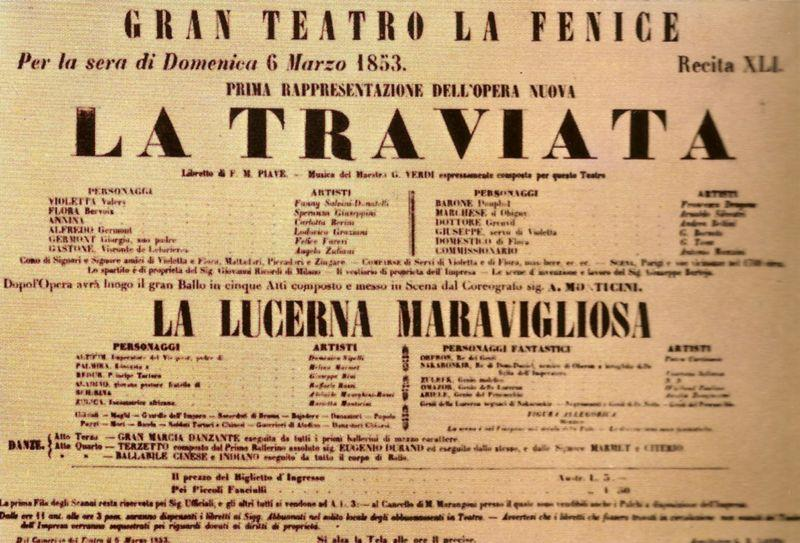 "Giuseppe Verdi's ""La Traviata"" premieres 1853"