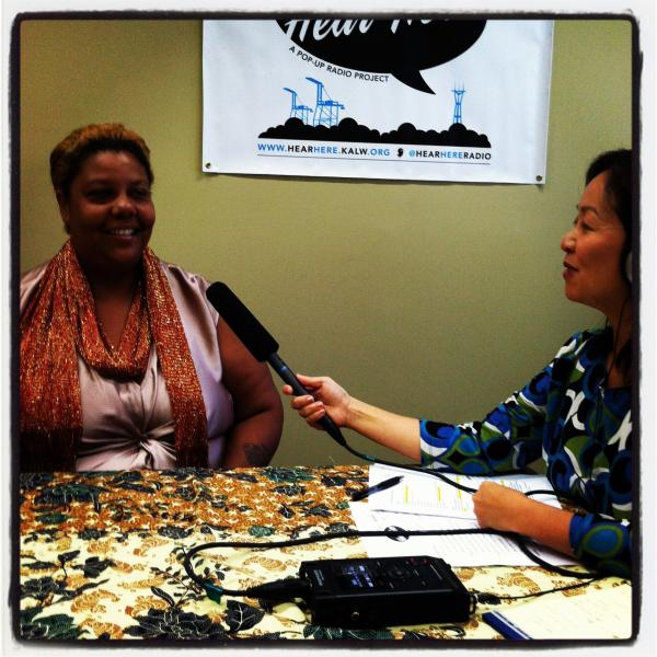Hear Here Community Engagement Specialist Anne Huang interviews Esther Goolsby at the 81st Avenue East Oakland Library.