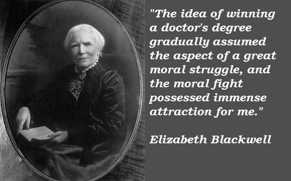Why dr elizabeth blackwell is a hero