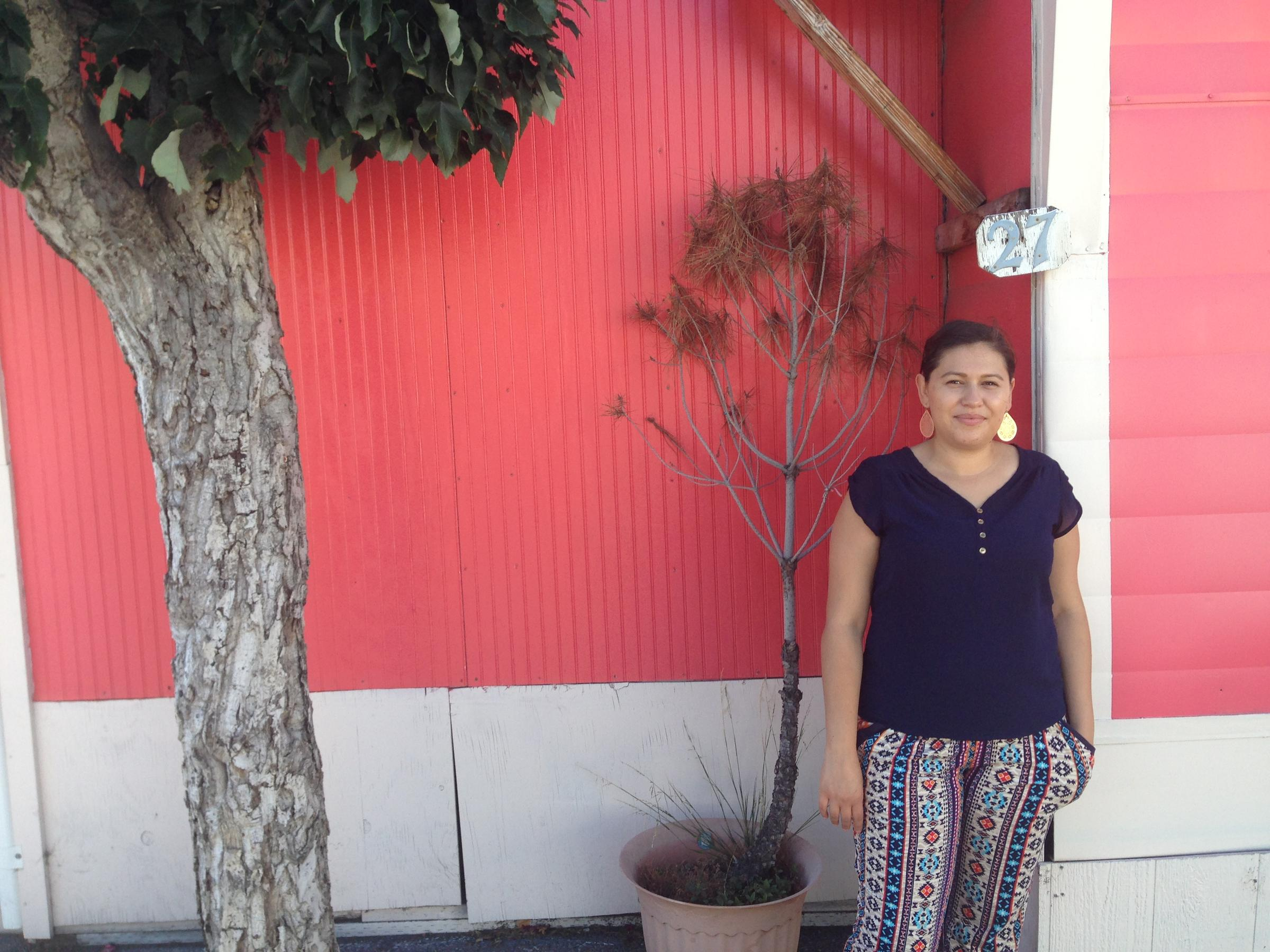 Erika Escalante Stands In Front Of Her Home At Buena Vista Mobile Park