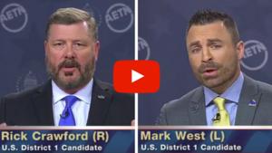 VIDEO: U. S. Congressional District 1 Debate on AETN