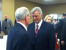 Arkansas Governor Mike Beebe at yesterday's dedication ceremony.