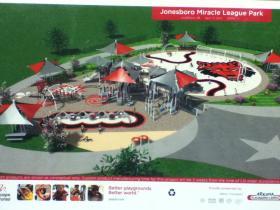 Miracle League Playground in Jonesboro. St. Bernards' logo will be on the playground.