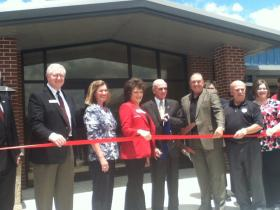 Ribbon Cutting at Fowler Family Hospitality Services Building.