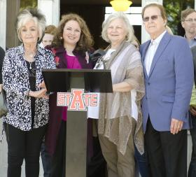 Joanne Cash Yates, Tara Cash Shwoebel, Dr. Ruth Hawkins, and Tommy Cash.