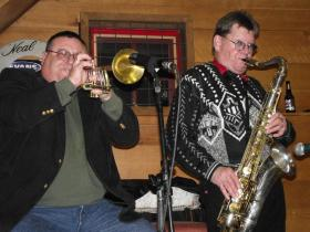 Trumpeter Gary Gazaway (left) and saxophonist Charlie Chalmers ( right).