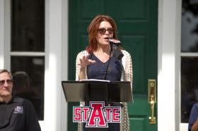 Rosanne Cash.  Photo courtesy of Arkansas State University.