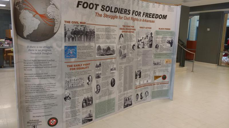 "This is one side of the ""Foot Soldiers for Freedom"" exhibit that was at Arkansas State University.  The Arkansas Humanities Council and various scholars from around the state help to tell the little known stories of Arkansas' role in Civil Rights."