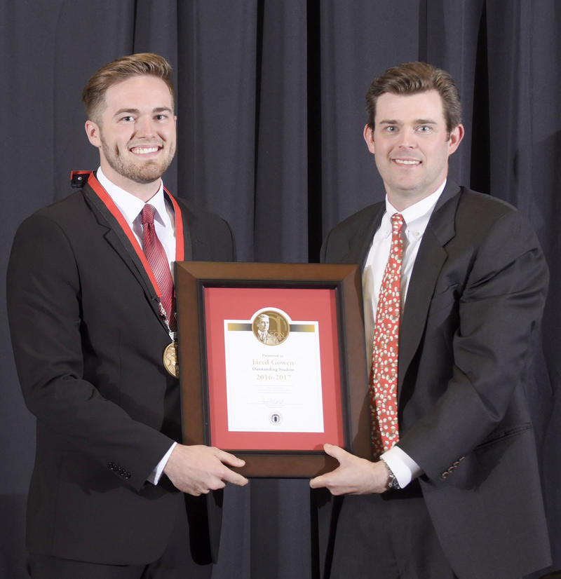 (left) 2017 R.E. Lee Wilson Award winner Jared Gowen and Perry Wilson, great-great grandson of R.E. Lee Wilson.