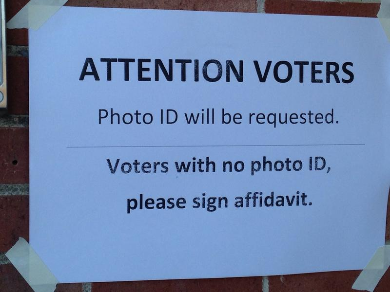 Stock photo of a voter ID notice.