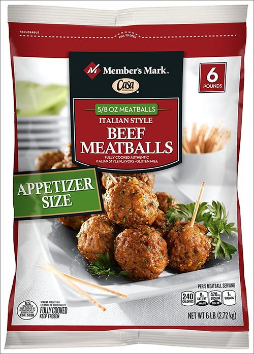 6-pound bags of Member's Mark Casa Di Bertacchi Italian-Style Beef Meatballs
