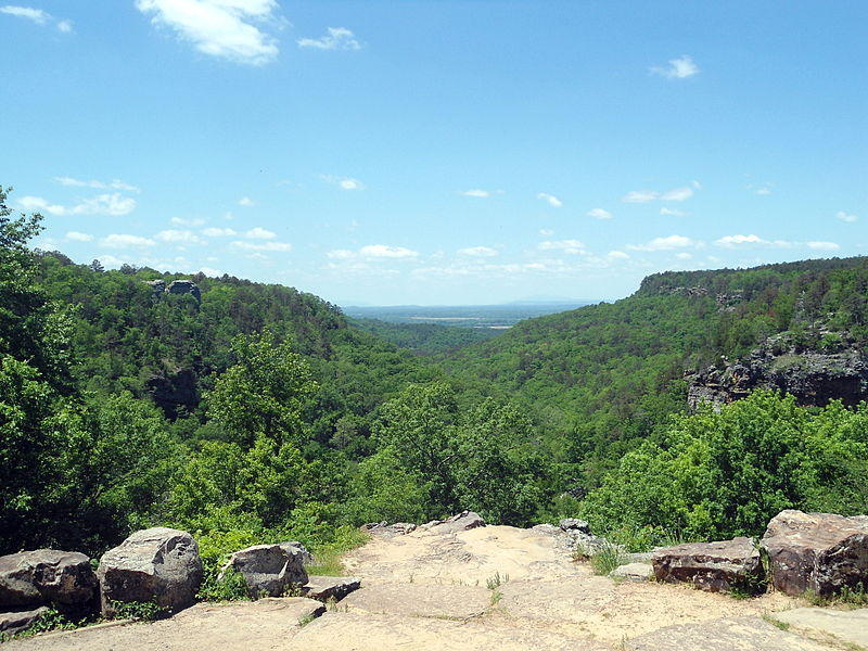 View from Mather Lodge at Petit Jean State Park