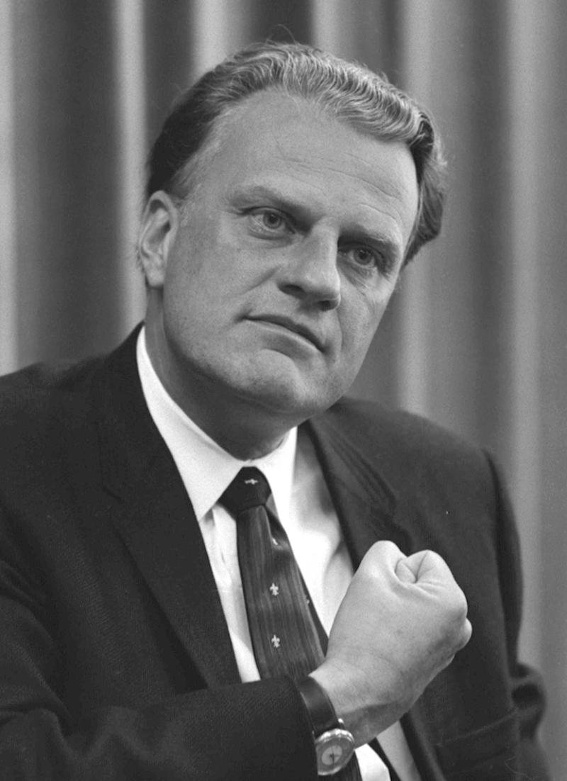 Billy Graham, American religious figure.