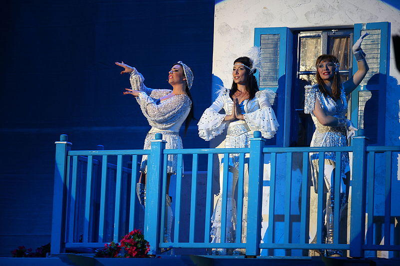 "File photo of the premiere of the ""Mamma mia"" play at the Terazije Theatre"