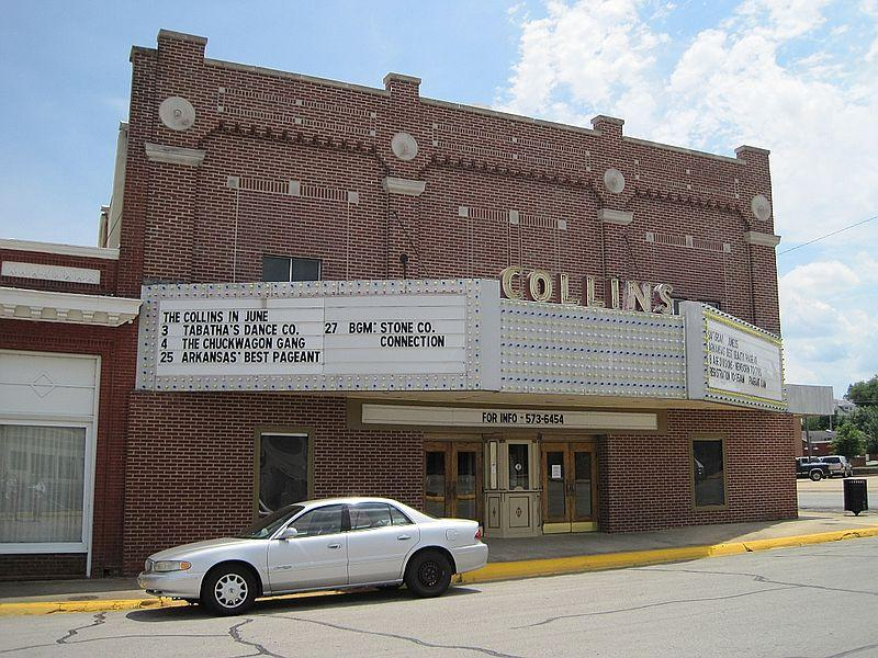 The Collins Theater in Downtown Paragould, Arkansas