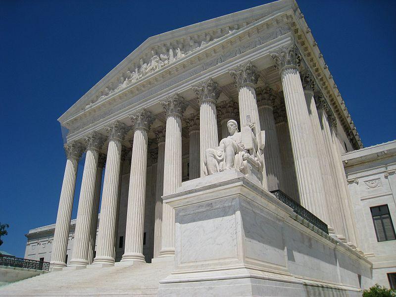 Supreme Court building, Washington, DC, USA. Front facade.