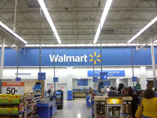 A picture of the inside of a remodeled Walmart in Miami, Florida.