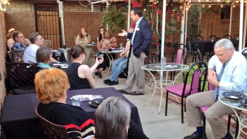 Mayor Douglas Nicholls Addresses Crowd at Spirited Discussions