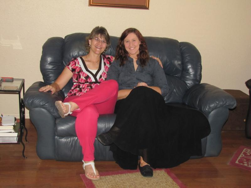Paula Milner and her daughter, Jessica in their Yuma home
