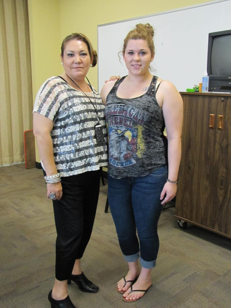 Marina Dominguez & Christina Muñoz at DFS office in Yuma