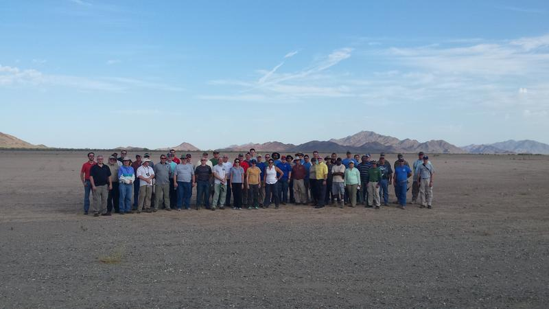 NASA Personnel at Yuma Proving Ground