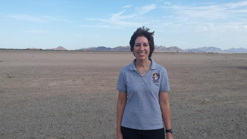 Dr. Ellen Ochoa, on-site for the Orion Capsule test at Yuma Proving Ground