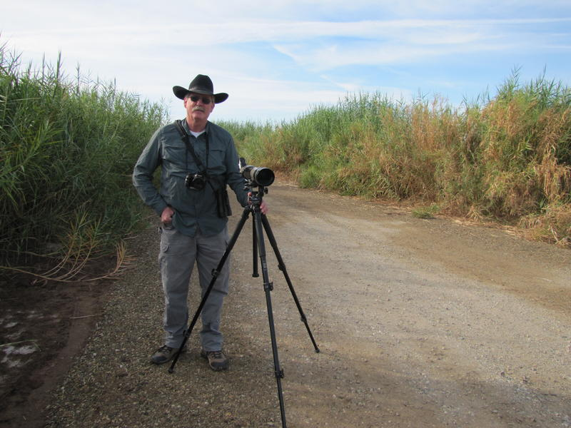 Bob Miller at Alamo River Wetlands Park in Brawley, California