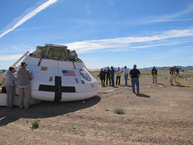 Landed Orion Test Capsule at Yuma Proving Ground