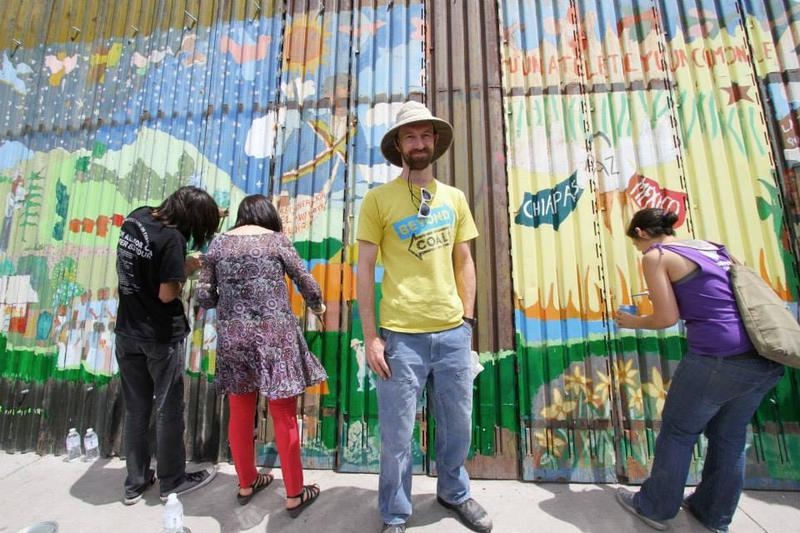 Dan Millis with the Sierra Club at Nogales border wall mural