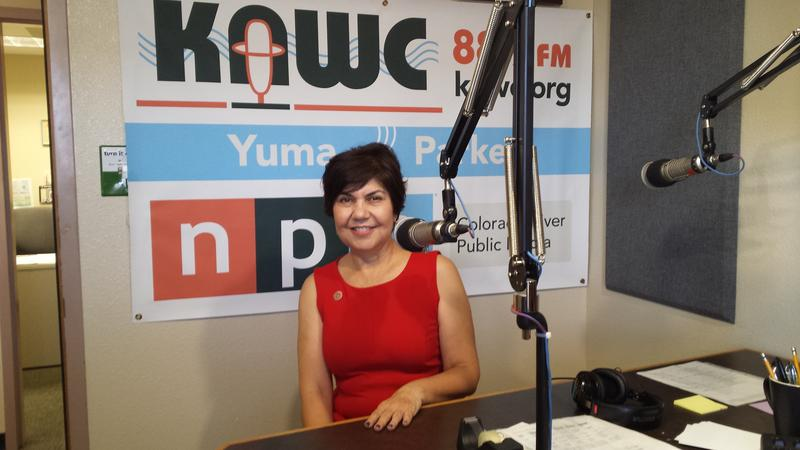 Representative Charlene Fernandez (D-4) in the KAWC Studios