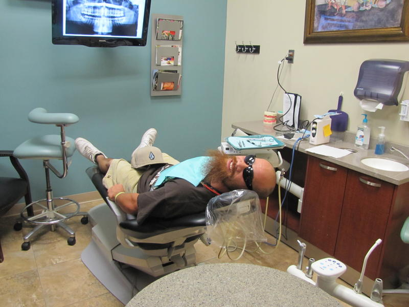 Scotty White in the dental chair
