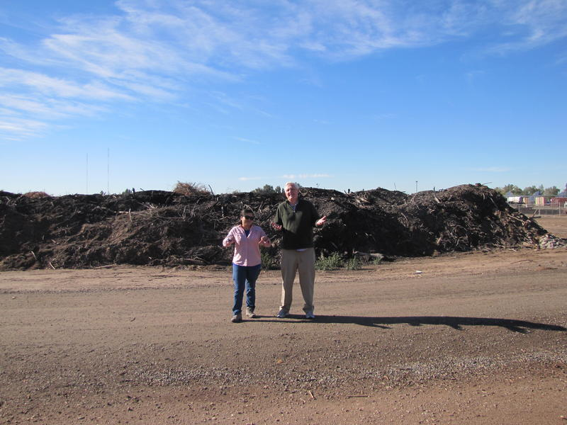 Yuma West Wetlands is an ongoing project.  Left: Vianey Avila, Right: Charles Flynn