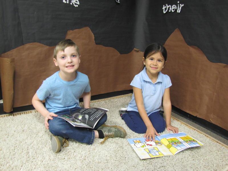 Karston Montgomery, 5 and Ariel Cibrian, 6