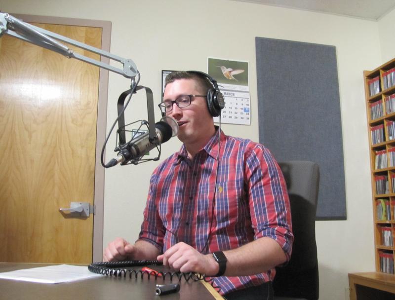 Our Revolution Yuma President Bryan Rasmussen in the KAWC Studios