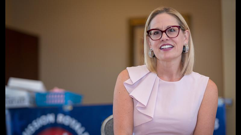 SInema met with constituents across southern Arizona in a road trip this week.
