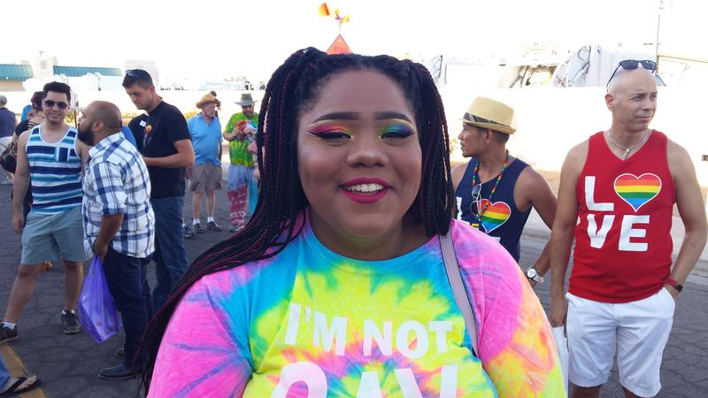Pride-goers wore rainbow everything...including makeup.
