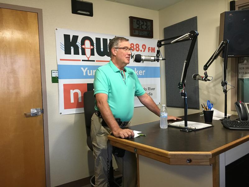 Brill speaks with KAWC on Friday, August 3, 2018.