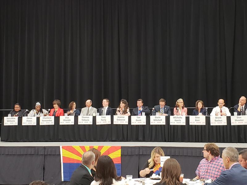 Candidates from districts 4 and 13 at a candidate forum at the Yuma Civic Center on Thursday, August 2, 2018.