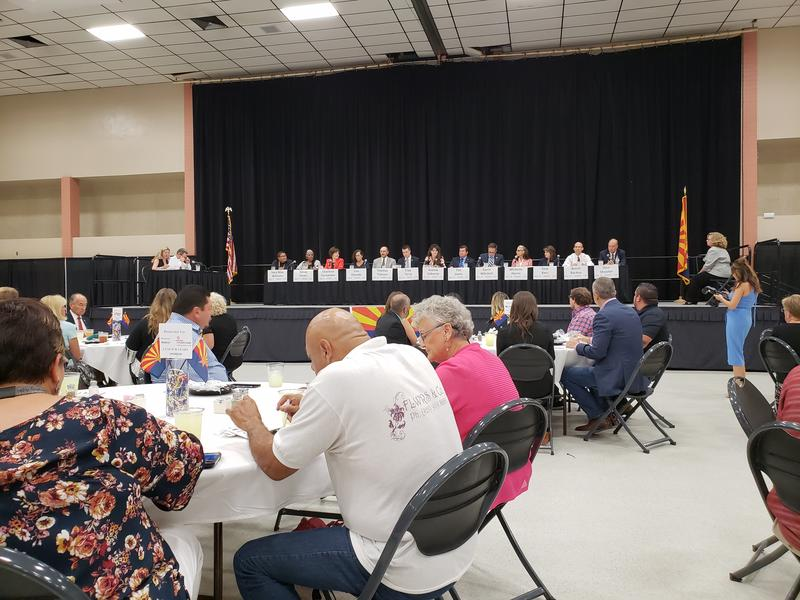 Voters heard from 13 political candidates at a forum at the Yuma Civic Center on Thursday, August 2, 2018.